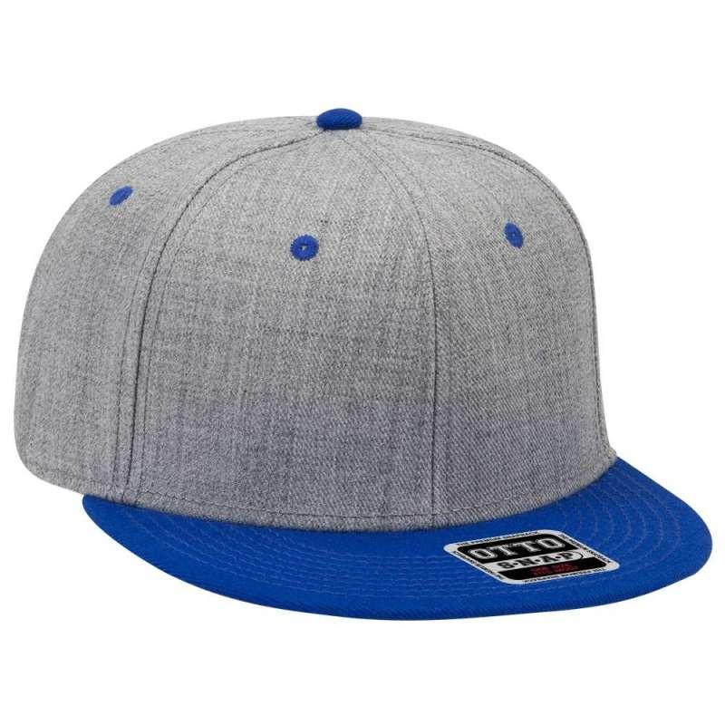 Kungsblå/gråmelerad snapback-keps, OTTO