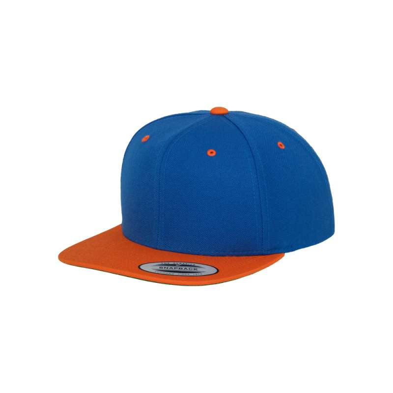 Snapback-keps, Kungsblå/Orange tvåfärgad Yupoong