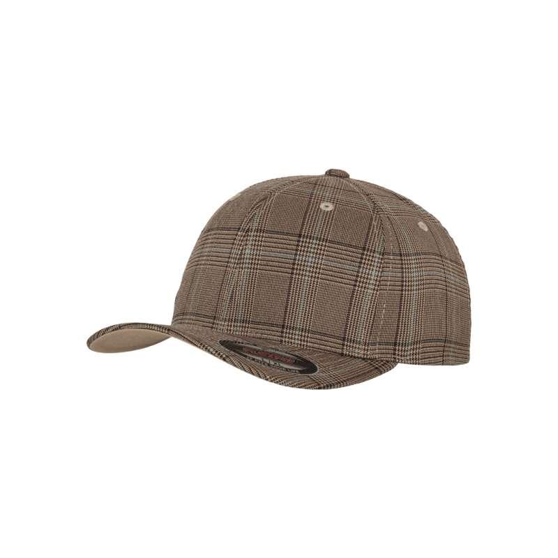 Flexfitkeps, Brun/Khaki 6196 Glen Check