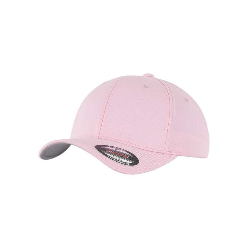 Flexfitkeps, rosa 6277 med böjd skärm